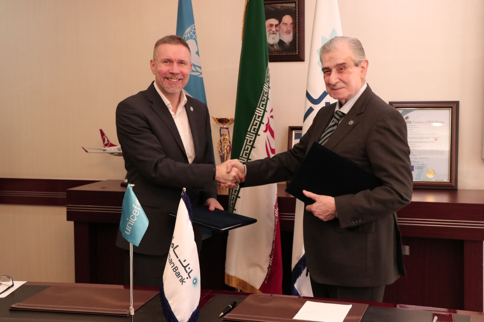 unicef-iran-and-saman-bank-signed-an-mou